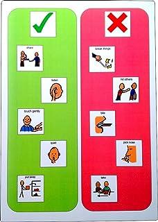 A3 Plastic Visual Behavior Display Board (Picture Communication Symbols)