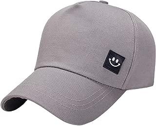 VEKDONE Unisex Classic Smile Embroidery Baseball Cap Snapback Hat Hip-Hop Adjustable Sun Protection Golf Caps