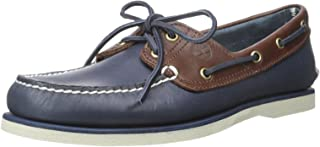 Timberland Classic Boat 2 Eyevintage Indigo and Potting Soil Two-Tone, Chaussures Bateau Homme