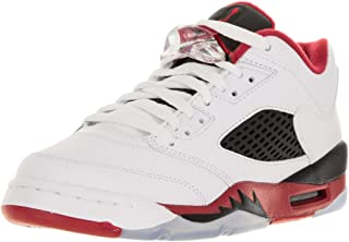 Nike Air Jordan 5 Retro Low LTD Basketball Shoes Sneaker White/Black/red, Color:White, EU Shoe Size:EUR 37.5