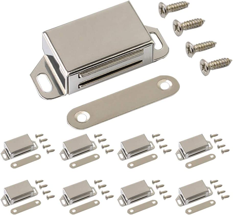 Upgraded 8-Pack Max 60% OFF Stainless Steel Magnetic Oakland Mall wi Cabinet Door Catch