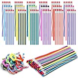 90 Pieces Flexible Bendable Pencils Assorted 3...