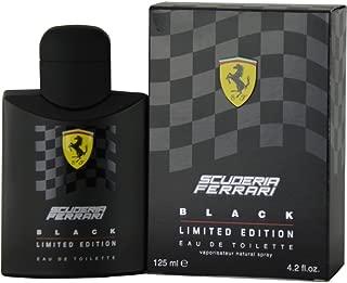 Ferrari Scuderia Black Eau De Toilette Spray, Limited Eau De Toilette Ion, 4.2 Ounce