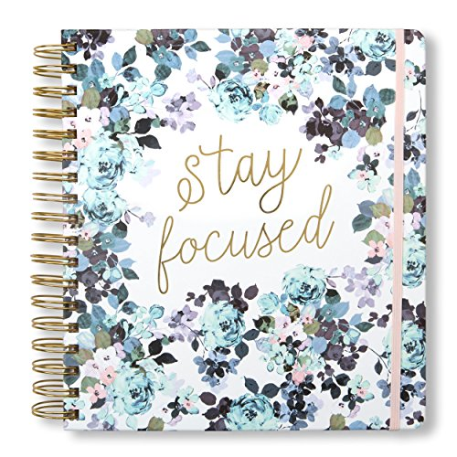 2019-2020 Gold Dots, 17 Month Daily Planners/Calendars: Tri-Coastal Design Planners with Monthly, Weekly and Daily Views - Personal Planner Notebook for Work or Home