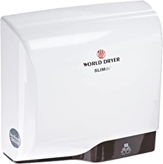 World Dryer L-974 SLIMdri Surface Mounted ADA Compliant Automatic Hand Dryer with Aluminum White Cover, 120/208/240V