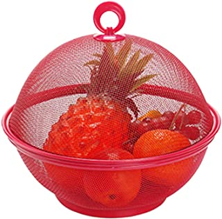 Home Kitchen Fruit Vegetables Washing Drain Basket Storage Bowl Holder Container - Big Red
