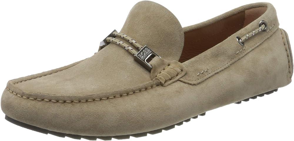 Boss driver_mocc_sdhwlc, mocassino per uomo,scarpe basse,in nabuk 50431111