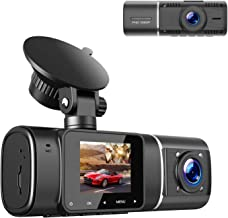 TOGUARD Dual Dash Cam with IR Night Vision, FHD 1080P Front and 720P Inside Cabin Dash..