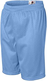 Badger Youth Mesh/Tricot Short (Columbia Blue) (L)