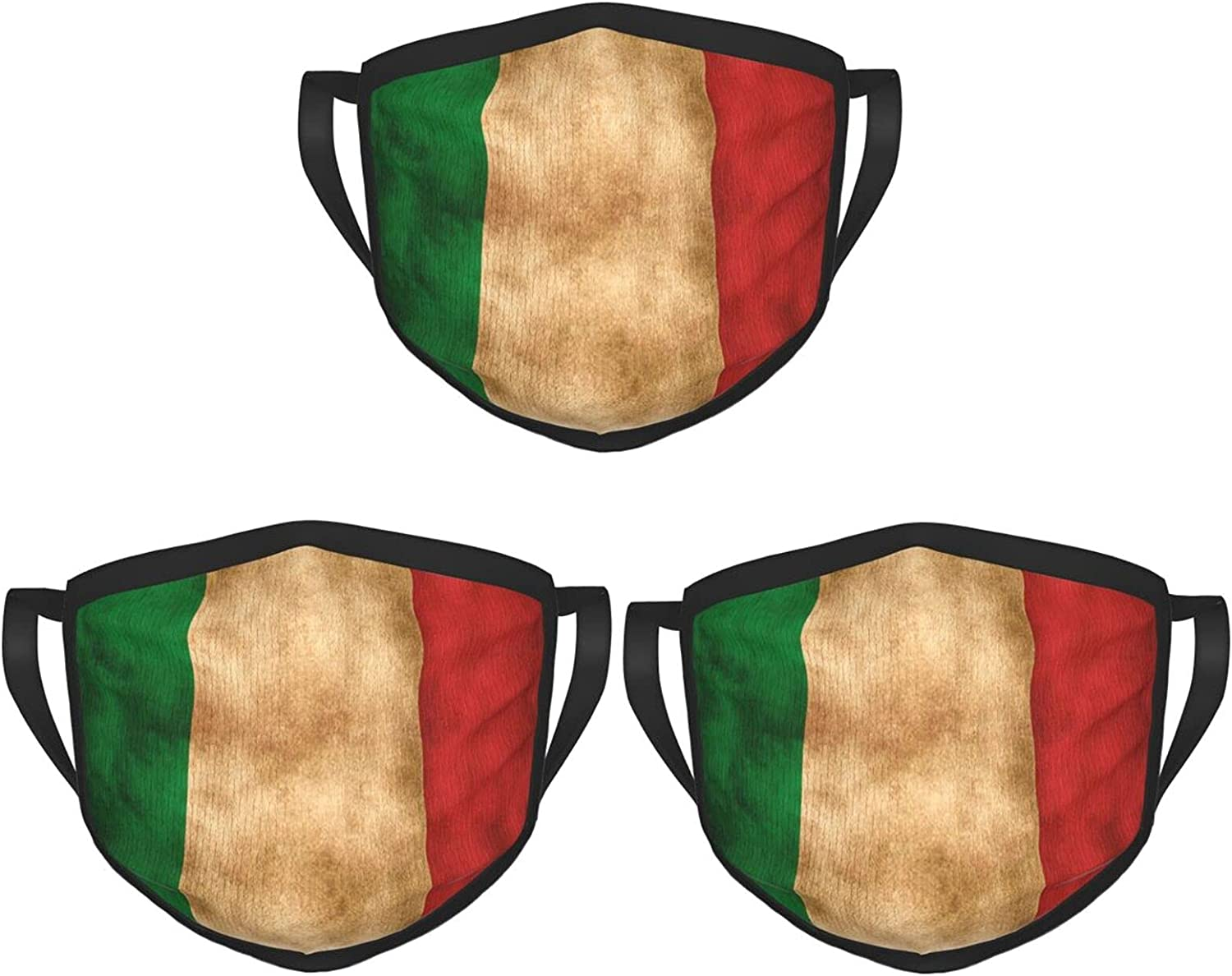 Balaclava Earmuffs Vintage Aged And Scratched Italian Flag Face Mouth Cover Mask Reusable Windproof Scarf Towel Cover Headwrap