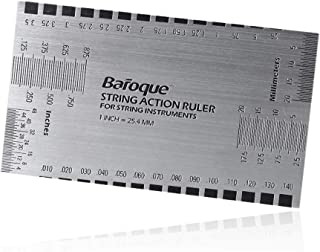 String Action Ruler Gauge Tool for Electric Bass and Acoustic Guitar