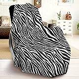 Kuscheldecke Schwarz Weiß,Fleecedecke Klein Zebra-Tiermuster,Warme Weiche Flanell Decke Sommer 130x150,Gemütlich Leicht zu pflegen,als Sofadecke Wohndecke Couchdecke