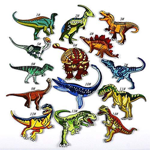 Parches Termoadhesivos Infantiles Decorativos Ropa 14 Piezas Dinosaurio Parches para Chaquetas Sombrero Ropa Bolsas Decoración
