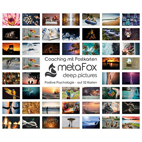 metaFox - POSITIVE PSYCHOLOGIE - Karten-Set der besonderen Art, mit 52 Karten - Kartenset Konversation Change Management Coaching Tool Motivationskarten Gefühlskarten