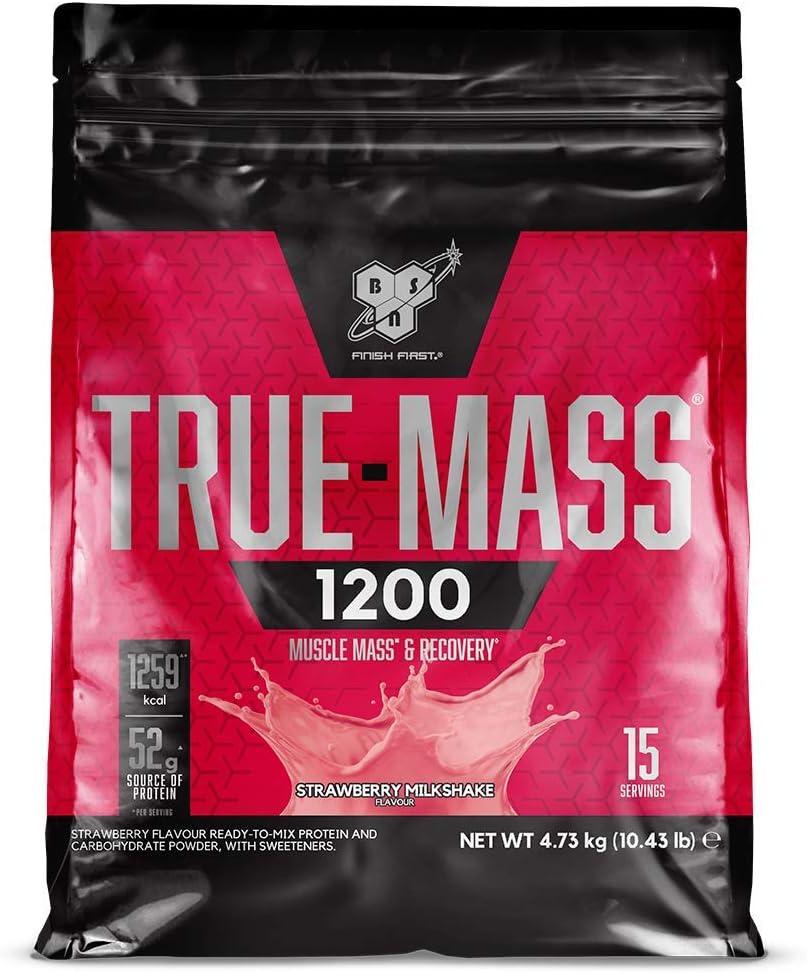 BSN True Mass 1200, Proteínas de la Leche y Carbohidratos para Aumentar Masa Muscular, Batido de Chocolate, 15 Porciones, 4.8 kg