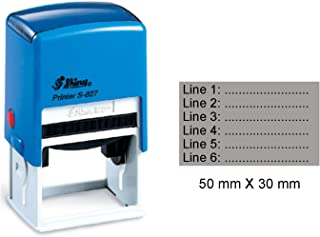 Shiny Self Inking Rubber Stamp Upto 6 Lines Of Custom Text Large 30 mm x 50 mm