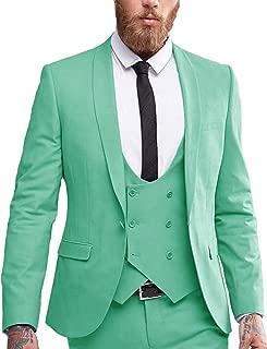 DGMJ Men Suits Slim Fit 3 Piece Designer One Button Party Blazer Vest Pants Set for Wedding XZ063