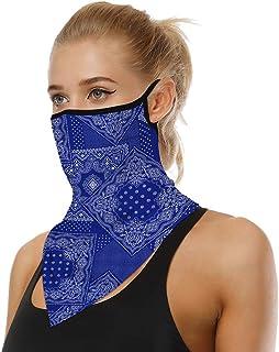 ChinFun - Pañuelo para la cara con protección UV, protección contra los rayos UV, para hombres, mujeres, polvo, viento, etc.