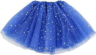 Girls Layered Stars Sequins Tutu Skirt Princess Ballet Dance Dress