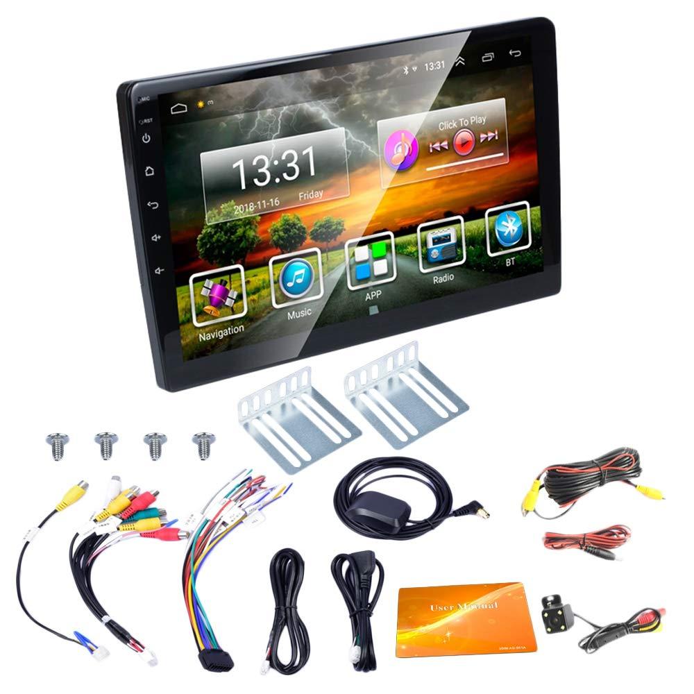TOOGOO 2 DIN Radio De Coche 10.1 Pulgadas HD Coche Reproductor Multimedia Mp5 Android 8.1 Radio De Coche GPS Navegación WiFi: Amazon.es: Coche y moto