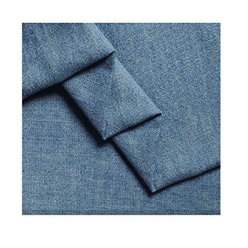 Yimihua Denim Tissu Tissu Denim lavé Coton Stretch Pantalon décontracté Chemise Robe vêtements 145 cm de Large Vendu au mètre (Color : Light Blue)