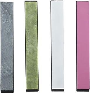 Piedra afiladora de cuchillos, 3000 granos, 5000 granos, 8000 granos, 10000 granos, colorida, con base para el afilador de cuchillos de ángulo fijo, 4 unidades