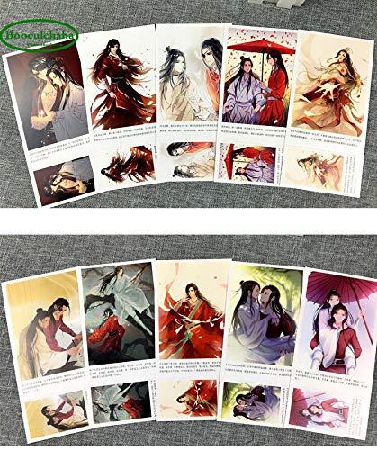 200 unids/set Anime Tian Guan Ci Fu postal/tarjeta de felicitaci¨®n/tarjeta de mensaje