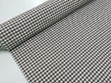 Confección Saymi Metraje 0,50 MTS Tejido Vichy, Cuadro pequeño 5x5 mm. Color Marrón Choco, con Ancho 2,80 MTS.