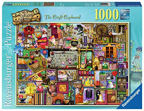 Ravensburger The Craft Cupboard Puzzle 1000 Piece Jigsaw Puzzle for Adults - Every piece is unique, Softclick technology Means Pieces Fit Together Perfectly