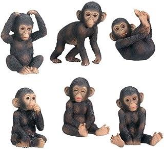 StealStreet Chimpanzees Collectible Figurine, Set of 6