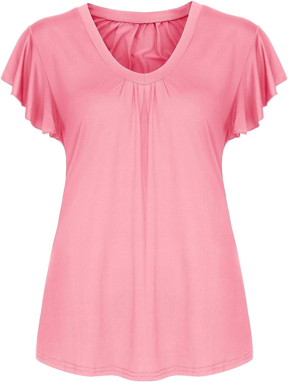 Womens Summer Tops Plus Size for Alternative dealer Blouse Pu Ruffles Max 60% OFF Sleeve