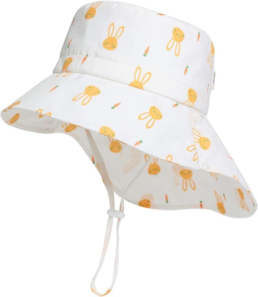 Strandhut Babyhut Bucket hat Kinderhut Mädchen Faltbar Jungen mit Früchte Druck Baby Sonnenhut Fishermütze Breite Krempe UPF50 Anglerhut Wandern