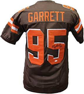 d6136cf5799 Myles Garrett Autographed Signed Cleveland Browns Home Jersey - JSA  Certified Authentic