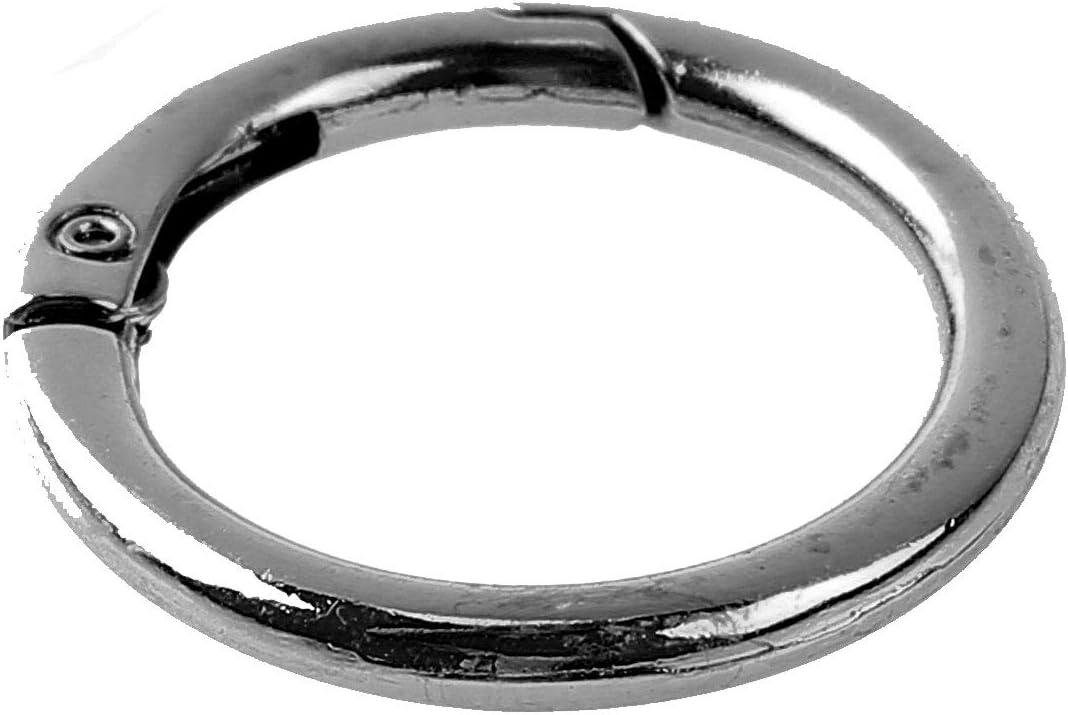 Agoky 10pc Rund Karabinerringe Schl/üsselanh/änger Karabinerhaken aus Zinklegierung Runde Karabiner O Ring