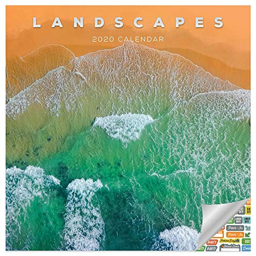 Landscapes Calendar 2020 Set - Deluxe 2020 Nature Wall Calendar with Over 100 Calendar Stickers (Photography Gifts, Office Supplies)