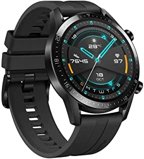 Huawei Smart Watch GT 2 Matte Black with flouroelastomer Black Strap