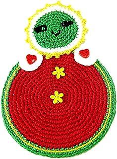 Agarradera roja en forma de Matrioshka de ganchillo - Tamaño: 13 cm x 19 cm H - Handmade - ITALY