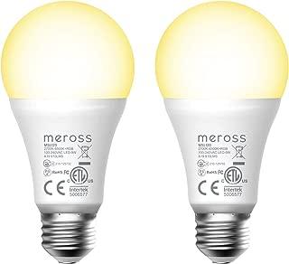 Meross WiFi スマートLED電球 E26 800lm 60W相当 電球色・昼白色対応 調光調色 RGB 1600万色 ハブ・ブリッジ不要 Alexa/Google Home 対応 MSL120JP-VC (2個入)