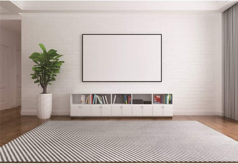 CSFOTO 5x3ft Living Room Backdrop Video Conferencing Background Interior Room Decor Classic Style Plant Bookshelf Interior Decor Office Background for Photography Online Meeting Decor Supplies