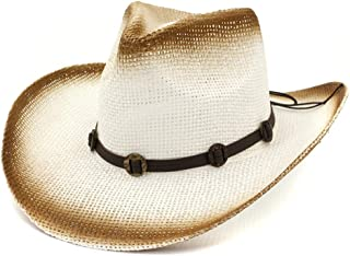 Sun Hat for men and women Elegant Western Paint Cowboy Straw Hat Outdoor Beach Hat Visor Thin Belt Fashion Sun Hat