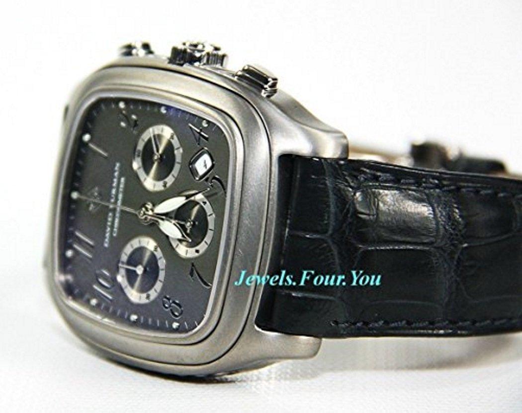 David Yurman XL Titanium Thoroughbred Date Chronograph New Watch Box Tags $4450