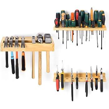 Wall Mountable 3 Tier Tool Organiser Storage Shelf Holder Pliers Rack Garage DIY