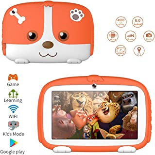 FUNSHION Kids Tablets, 7inch Kids Edition Tablets for Kids 1G+8G Android Quad Core Tablets with WiFi Parental Control,40+Learning & Training Apps.