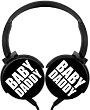 POJIA Baby Daddy Fashion Wired Headphone Stereo Heavy Bass Headset On-Ear Earphone Earpiece with Mic