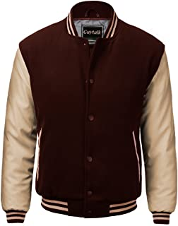 Guytalk Men's Letterman Style Premium Thick Fabric Varsity Baseball Jacket