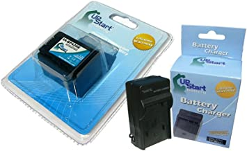 Upstart Battery IA-BP420E Replacement Battery and Charger for Samsung HMX-H203, HMX-H204, HMX-H205, HMX-S10, HMX-S15, SMX-F40, SMX-F43, SMX-F44 Camcorders Brand with