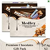 SNICKERS Medley Assorted Chocolates Gift Pack (Snickers, M&M's, Bounty and Galaxy), 495.2g (Pack of 2)