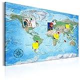 murando - deutsche Weltkarte Pinnwand & Vlies Leinwandbild