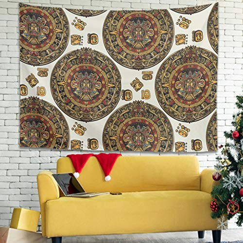 Zhenxinganghu Egypt India Mayan - Tapiz de Pared con decoración de Pared para Dormitorio o salón, poliéster, Blanco, 79 * 59