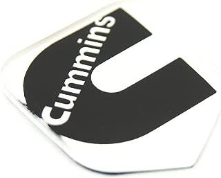 1 NEW 94-02 CUMMINS SECOND GEN WHITE & BLACK CUSTOM GRILL EMBLEM BADGE